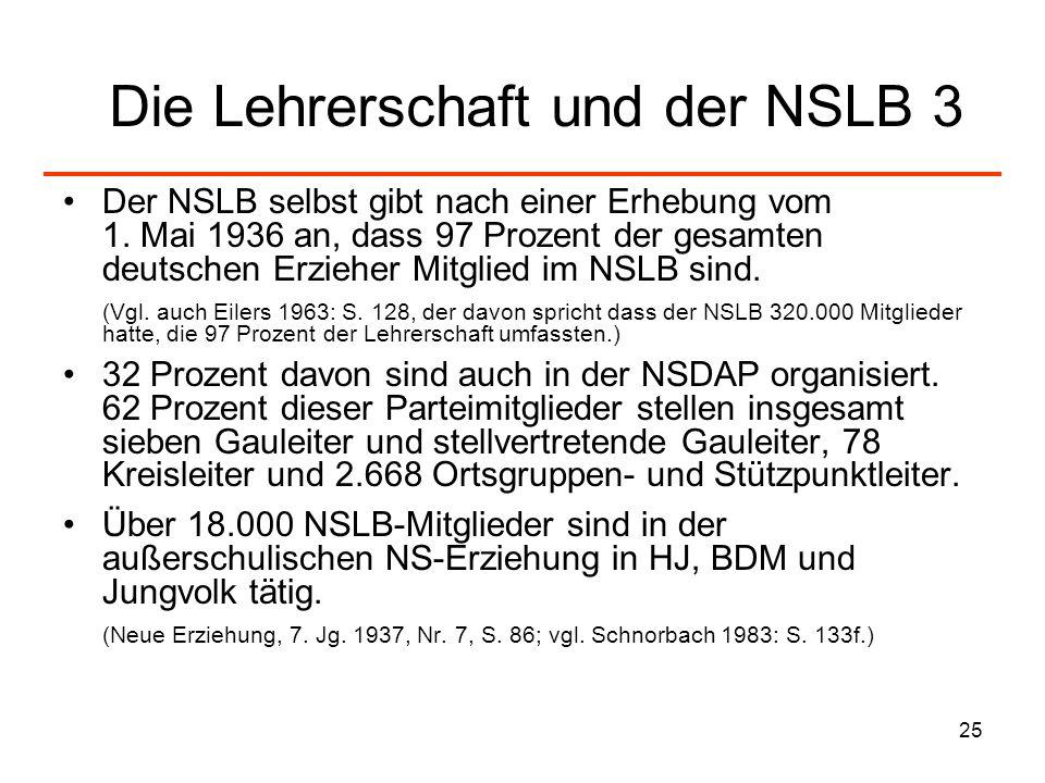 Die Lehrerschaft und der NSLB 3