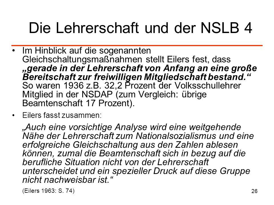 Die Lehrerschaft und der NSLB 4