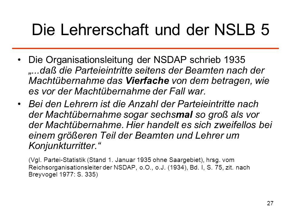 Die Lehrerschaft und der NSLB 5