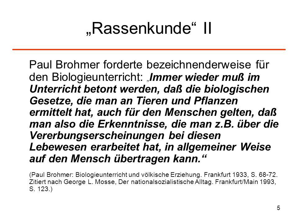 """""""Rassenkunde II"""