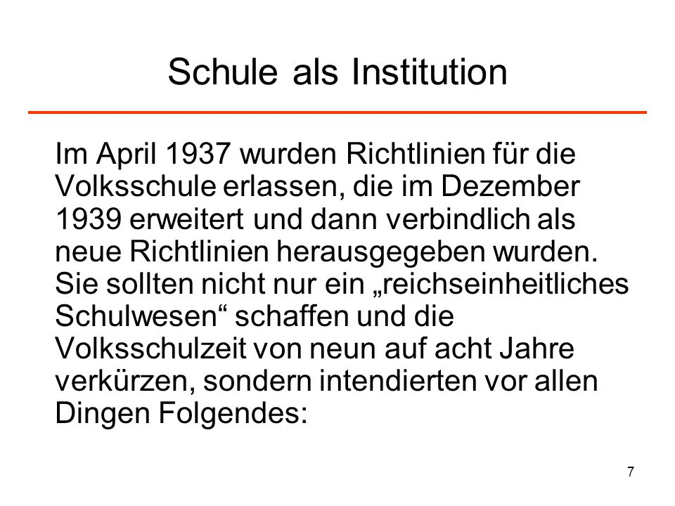 Schule als Institution