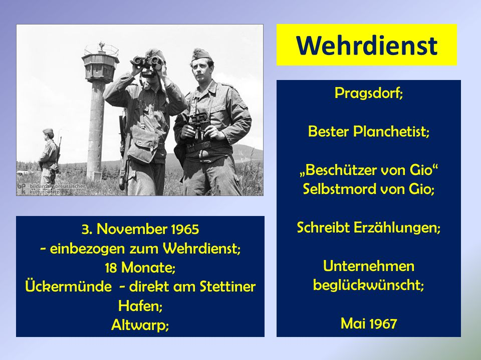 """Wehrdienst Pragsdorf; Bester Planchetist; """"Beschützer von Gio"""