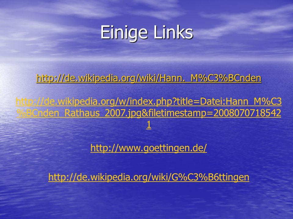 Einige Links http://de.wikipedia.org/wiki/Hann._M%C3%BCnden