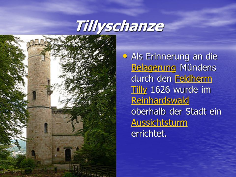 Tillyschanze