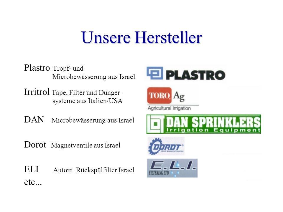 Unsere Hersteller Plastro Tropf- und Microbewässerung aus Israel