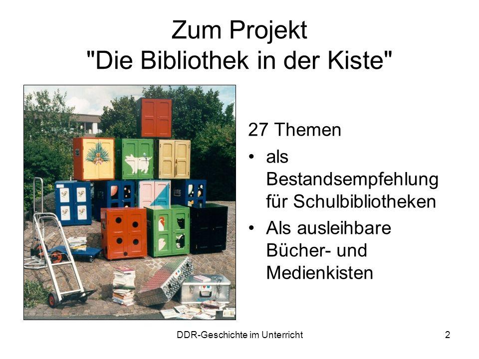 Zum Projekt Die Bibliothek in der Kiste