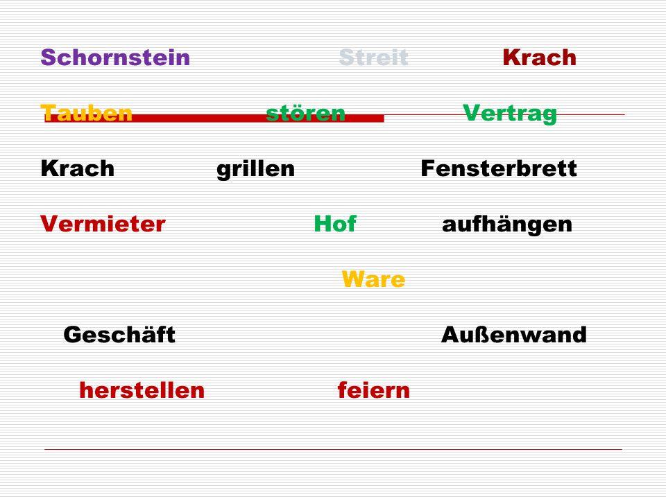 Schornstein Streit Krach