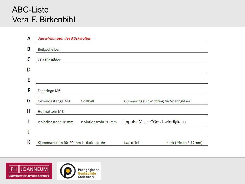 ABC-Liste Vera F. Birkenbihl