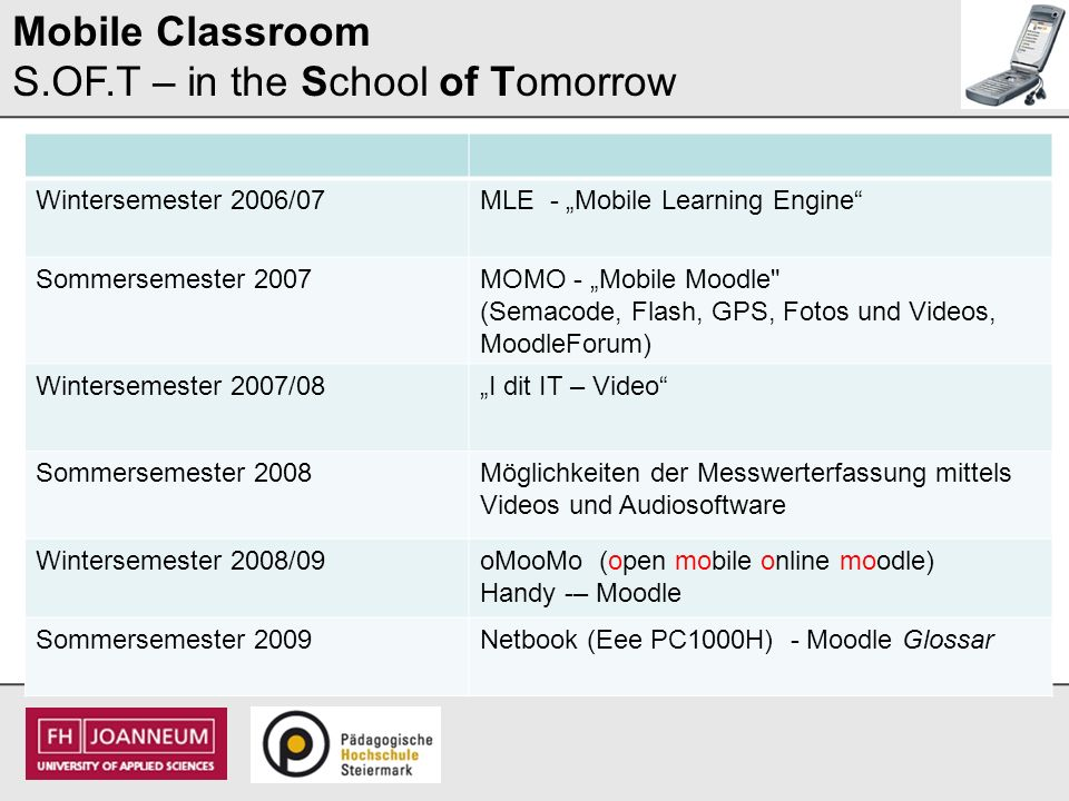 Mobile Classroom S.OF.T – in the School of Tomorrow