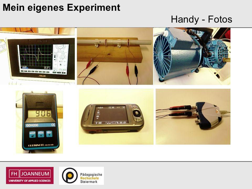 Mein eigenes Experiment Handy - Fotos
