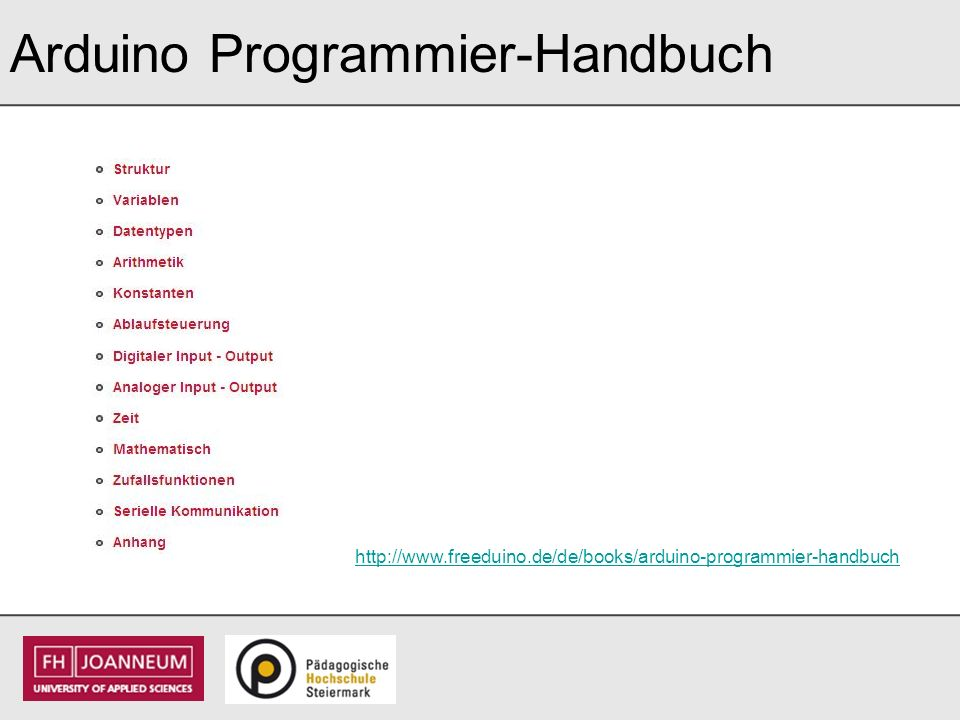 Arduino Programmier-Handbuch