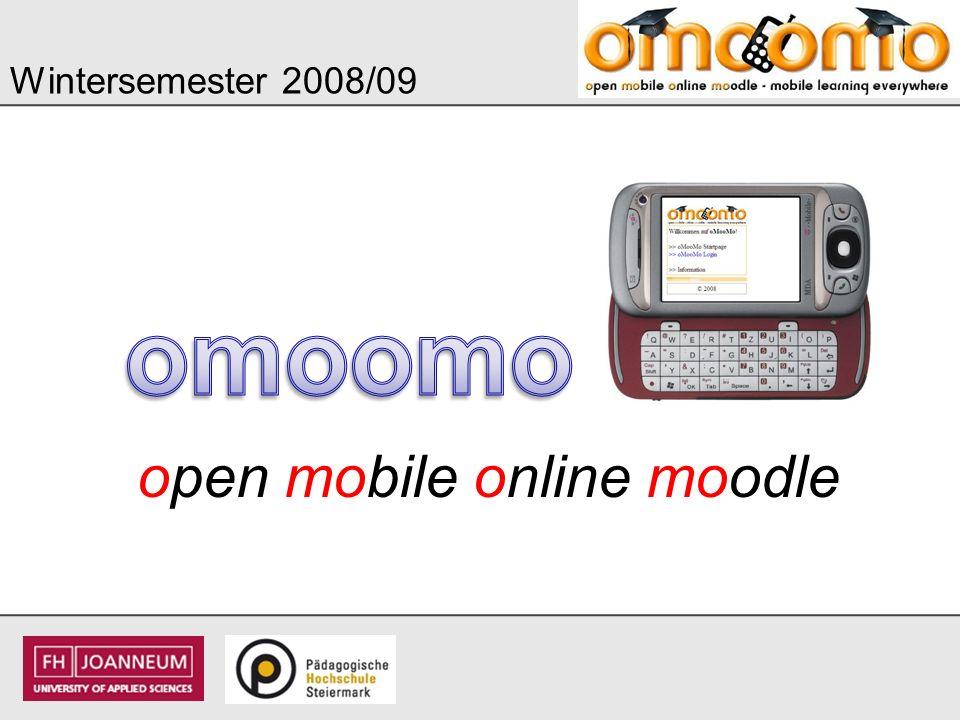 Wintersemester 2008/09 omoomo open mobile online moodle