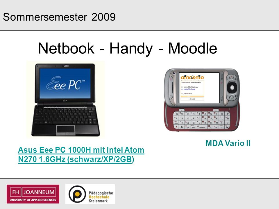 Netbook - Handy - Moodle
