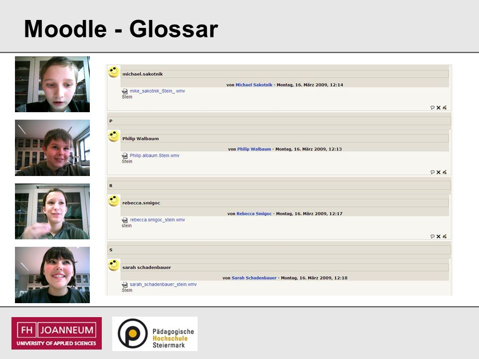Moodle - Glossar