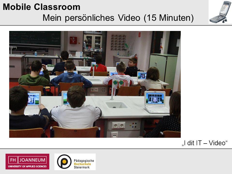 Mobile Classroom Mein persönliches Video (15 Minuten)