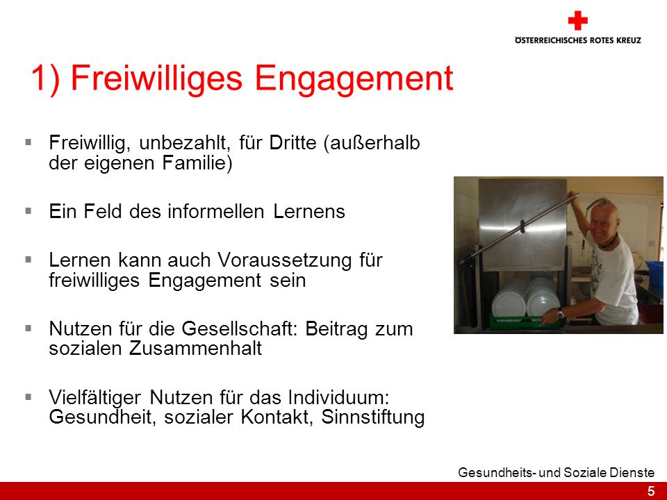 1) Freiwilliges Engagement