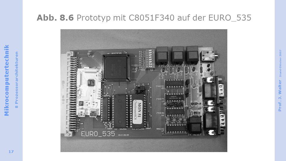 Abb. 8.6 Prototyp mit C8051F340 auf der EURO_535