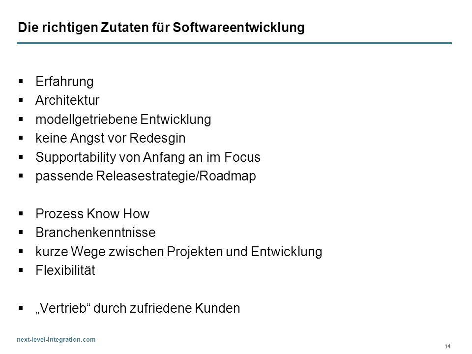 Die richtigen Zutaten für Softwareentwicklung