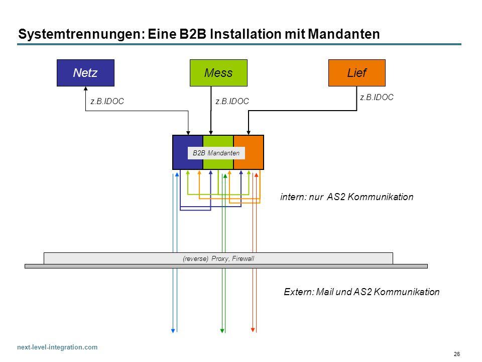 Systemtrennungen: Eine B2B Installation mit Mandanten