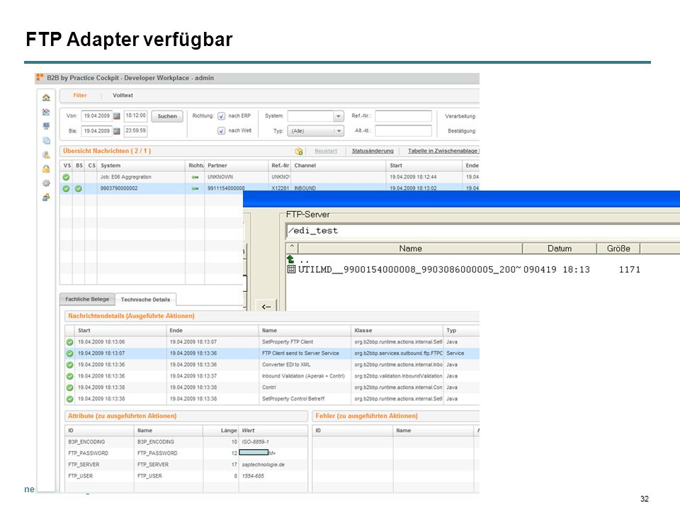 FTP Adapter verfügbar