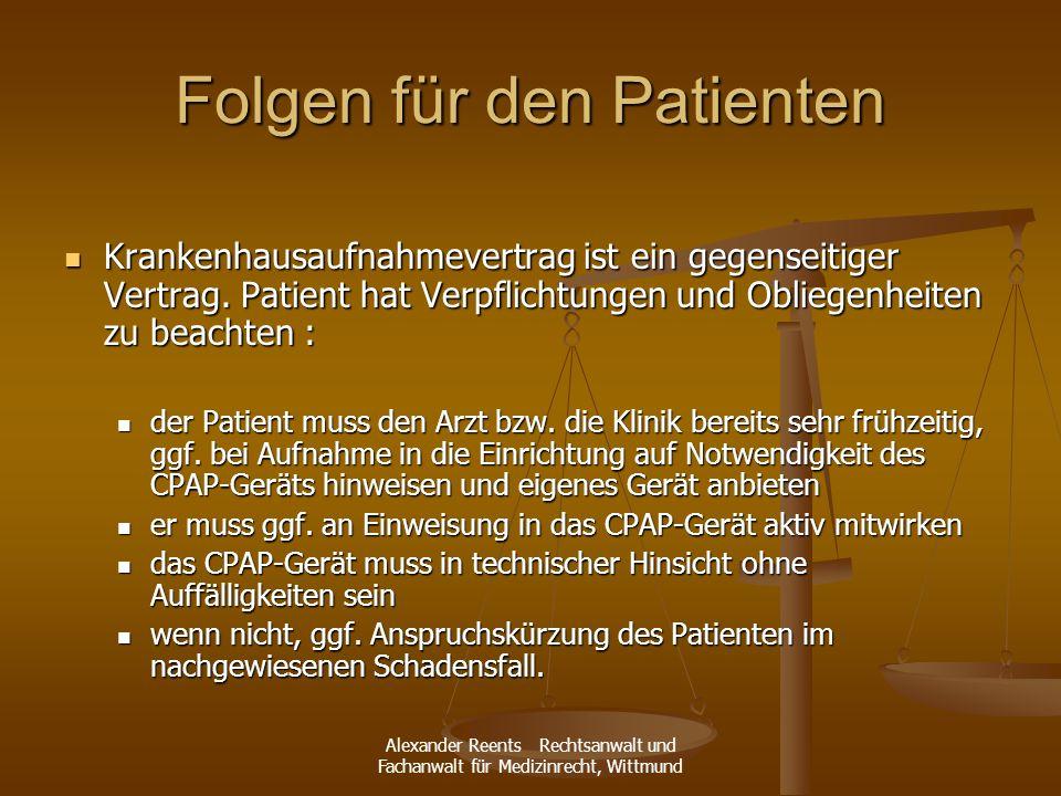 Folgen für den Patienten