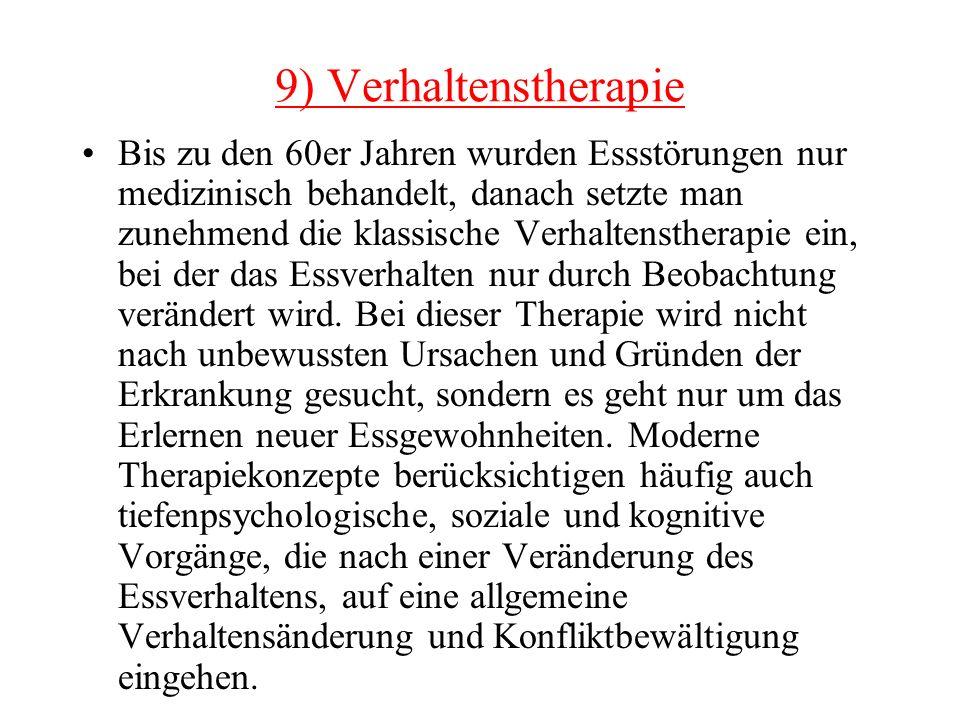 9) Verhaltenstherapie
