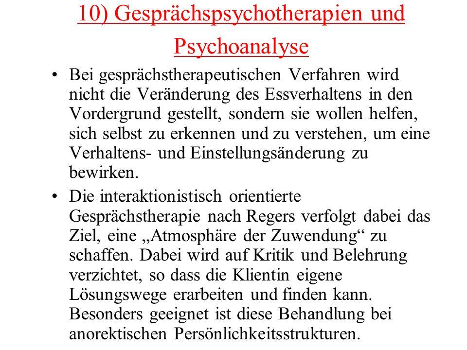10) Gesprächspsychotherapien und Psychoanalyse