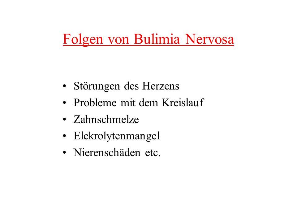 Folgen von Bulimia Nervosa