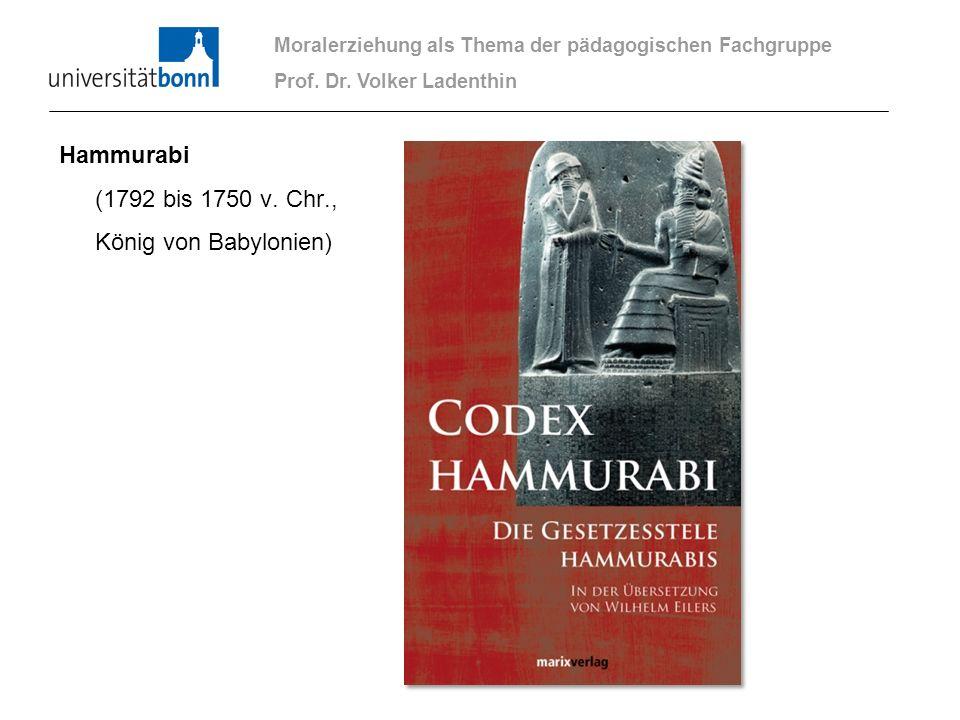 Hammurabi (1792 bis 1750 v. Chr., König von Babylonien)
