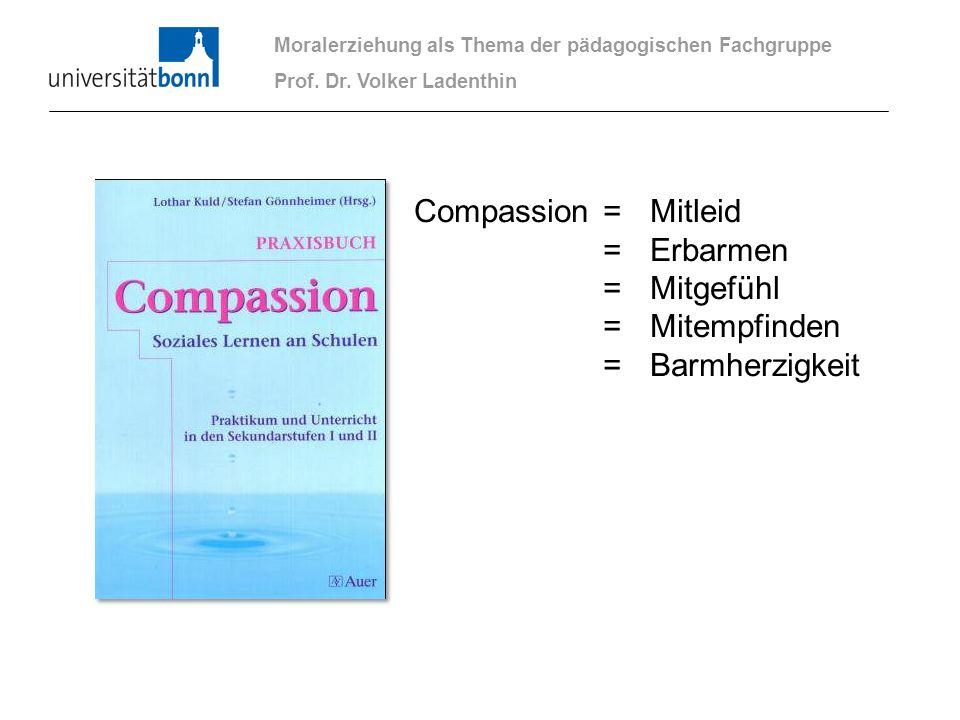 Compassion = Mitleid = Erbarmen = Mitgefühl = Mitempfinden