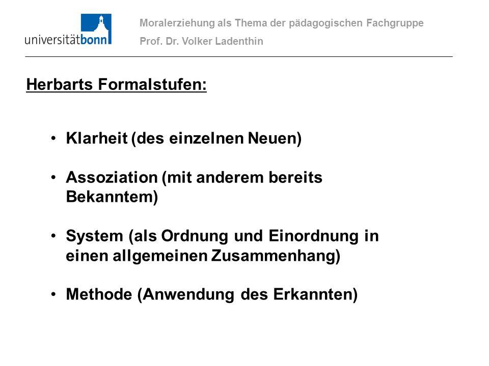 Herbarts Formalstufen: