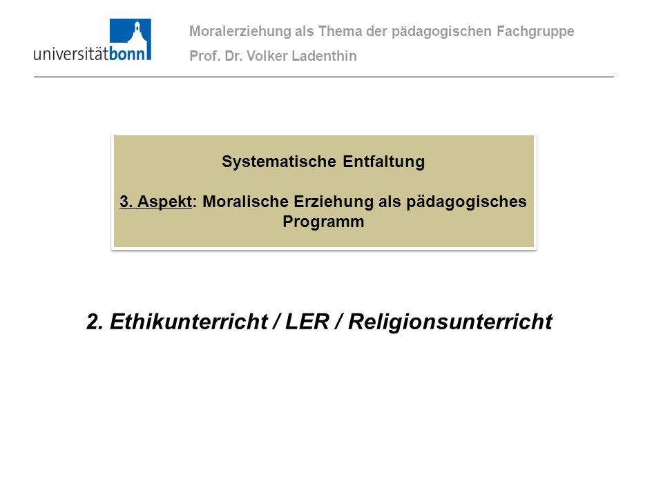 2. Ethikunterricht / LER / Religionsunterricht