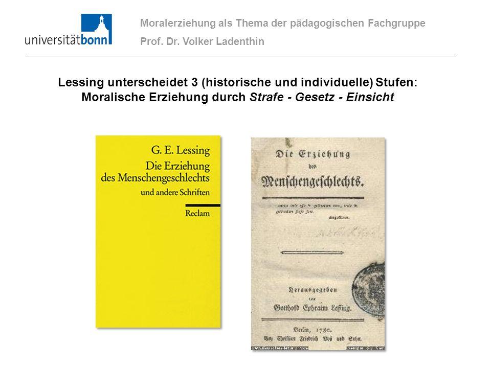 Lessing unterscheidet 3 (historische und individuelle) Stufen: