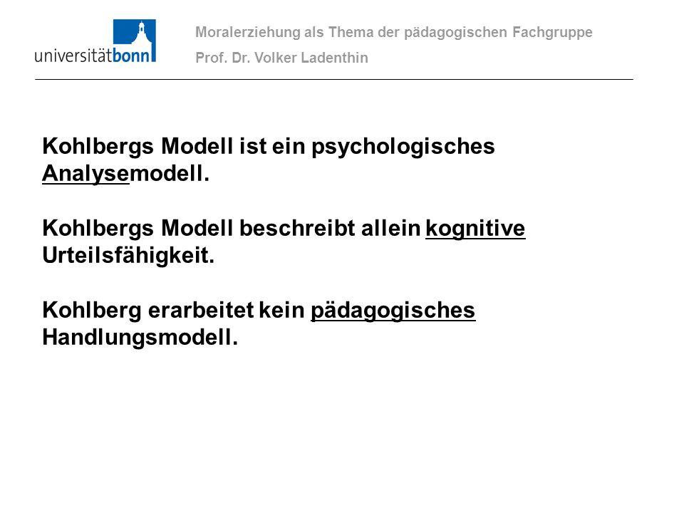 Kohlbergs Modell ist ein psychologisches Analysemodell.