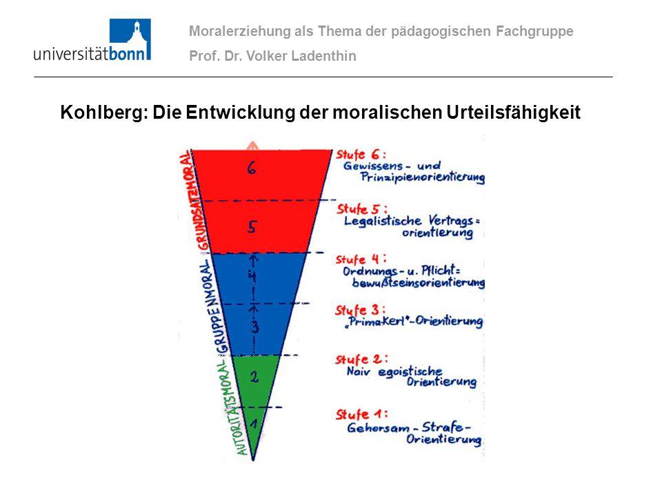 Kohlberg: Die Entwicklung der moralischen Urteilsfähigkeit