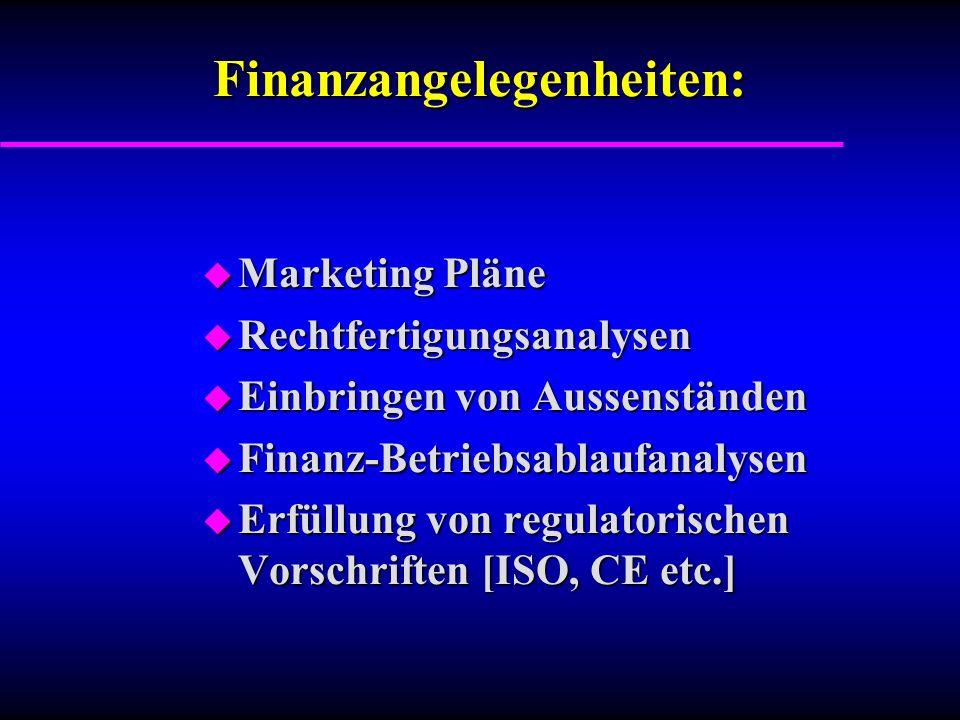 Finanzangelegenheiten: