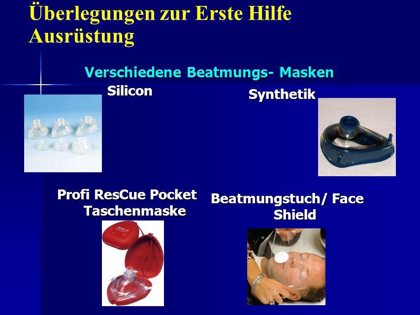 Verschiedene Beatmungs- Masken