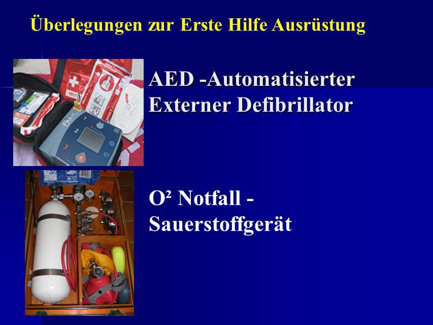 AED -Automatisierter Externer Defibrillator