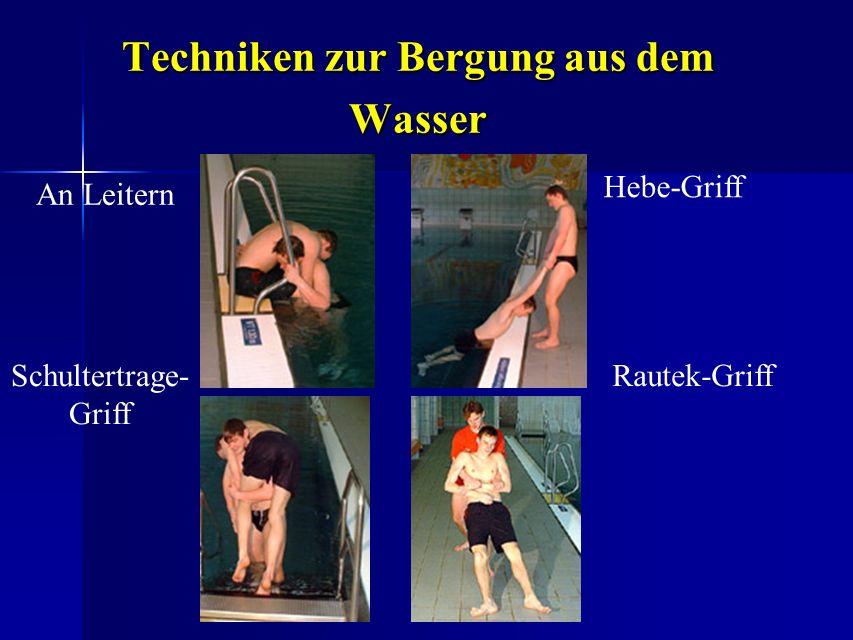 Techniken zur Bergung aus dem Wasser