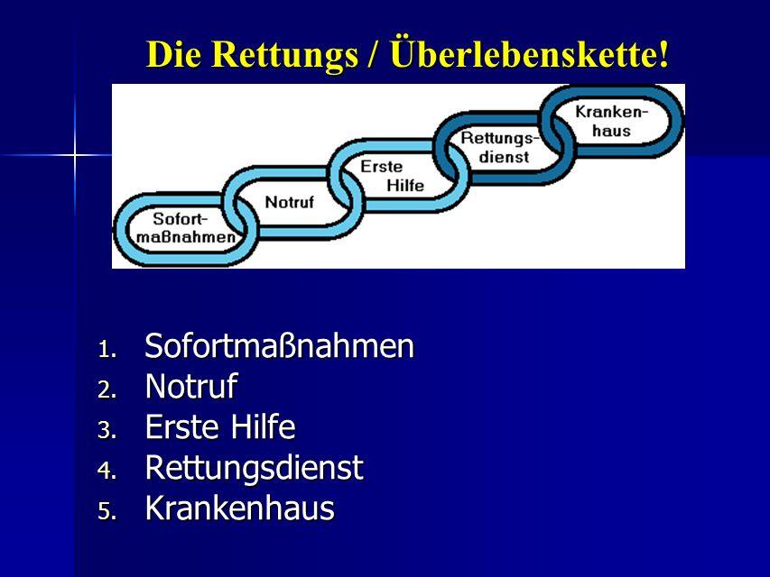 Die Rettungs / Überlebenskette!