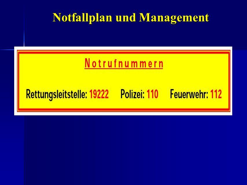 Notfallplan und Management