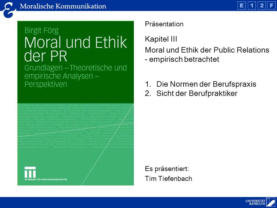 Moral und Ethik der Public Relations – empirisch betrachtet