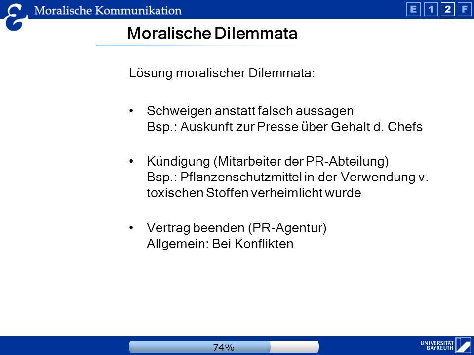 Moralische Dilemmata Lösung moralischer Dilemmata: