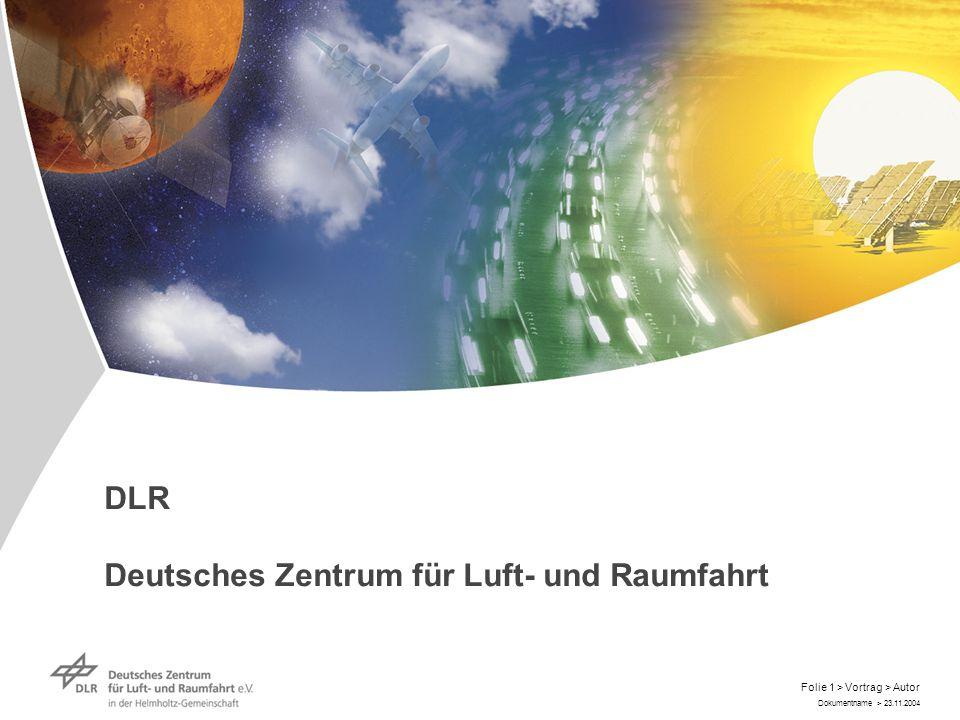 DLR Deutsches Zentrum für Luft- und Raumfahrt