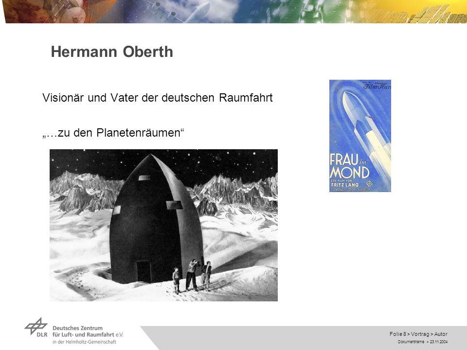 Hermann Oberth Visionär und Vater der deutschen Raumfahrt