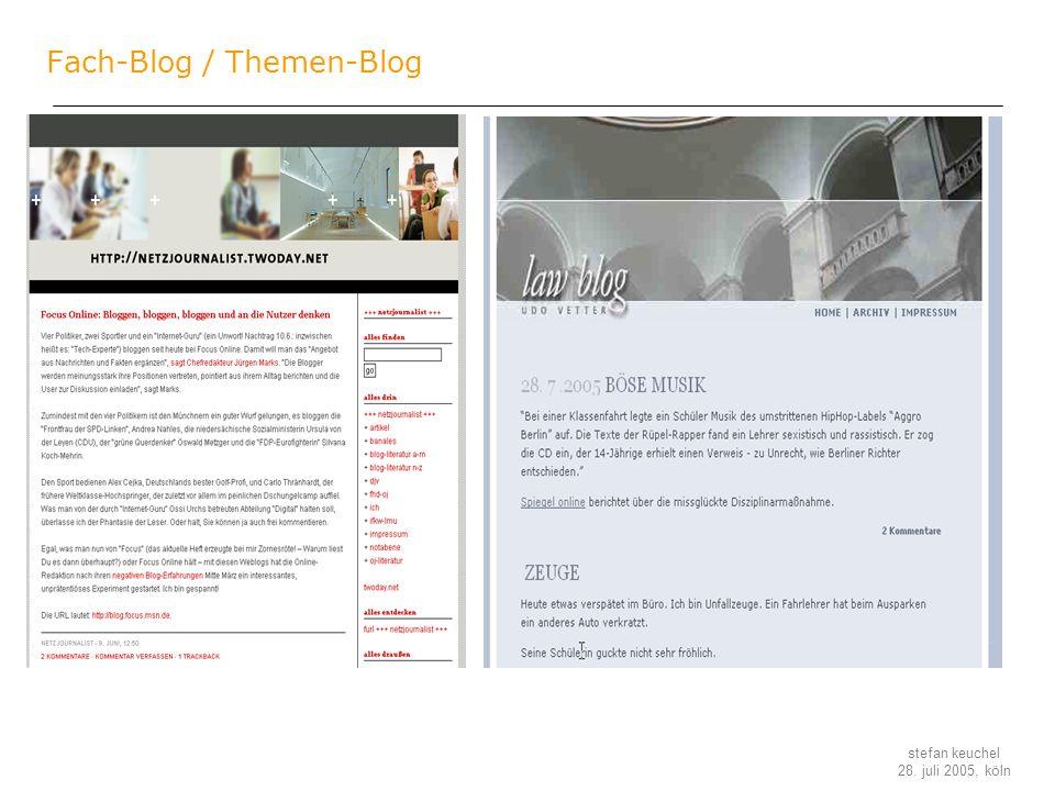 Fach-Blog / Themen-Blog