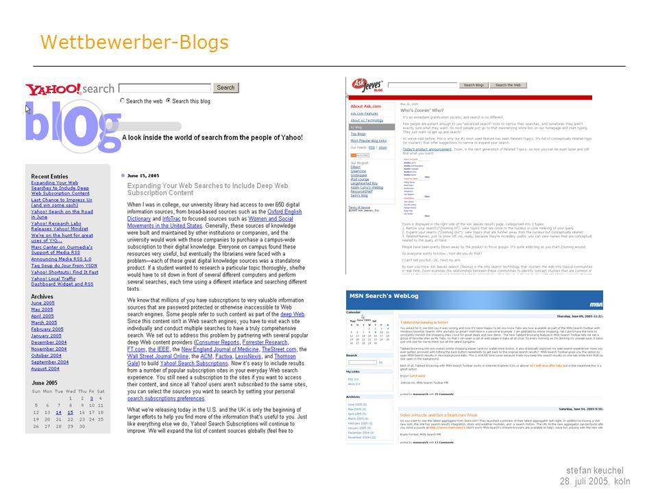 Wettbewerber-Blogs
