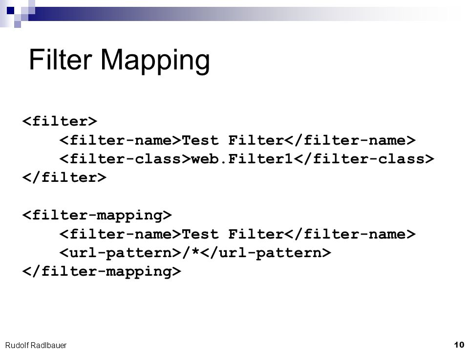 Filter Mapping <filter>