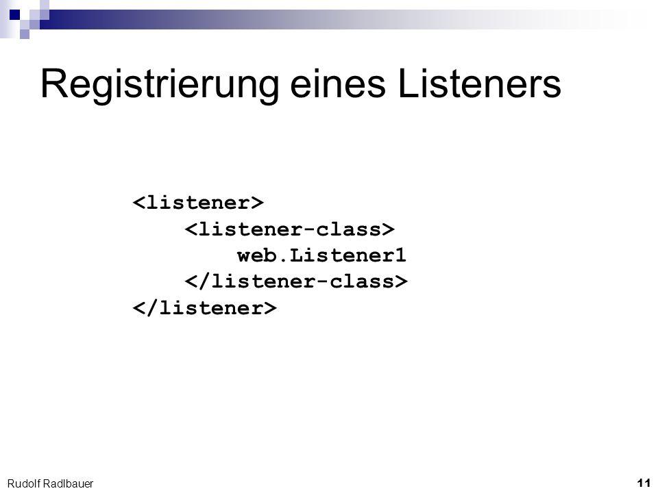 Registrierung eines Listeners