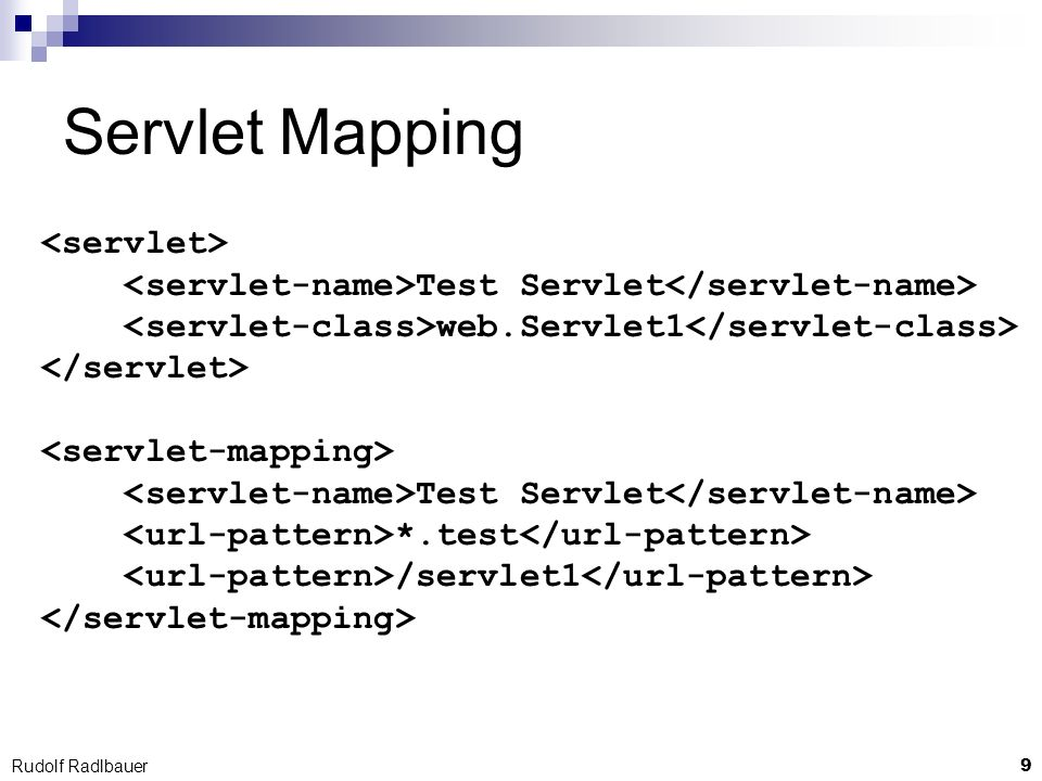 Servlet Mapping <servlet>